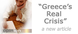 Greece's real crisis. A new opinION article.